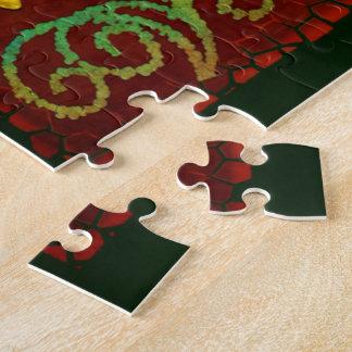 トンボのエレガントな宝石で飾られた2民芸 ジグソーパズル