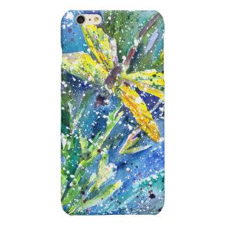トンボの夏の水彩画の電話箱 光沢iPhone 6 PLUSケース