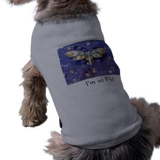 """トンボの小犬のセーター""""私は従ってはえあります! """" ペット服"""