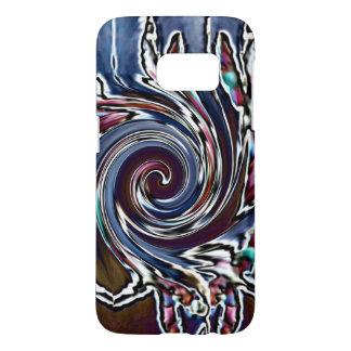 トンボの波の抽象芸術の自然 SAMSUNG GALAXY S7 ケース