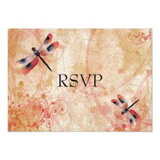 トンボの華麗さの披露宴RSVP カード