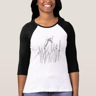 トンボ、池、昆虫、猫尾 Tシャツ
