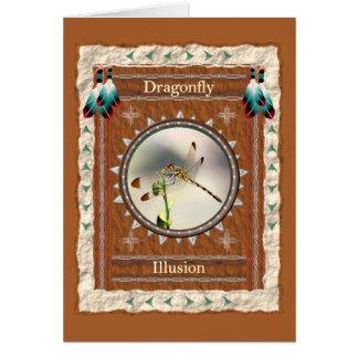 トンボ-錯覚のカスタムな挨拶状 カード