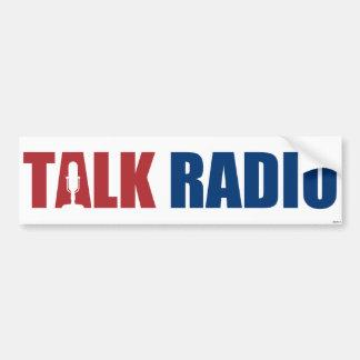 トーク番組中心のラジオ放送 バンパーステッカー