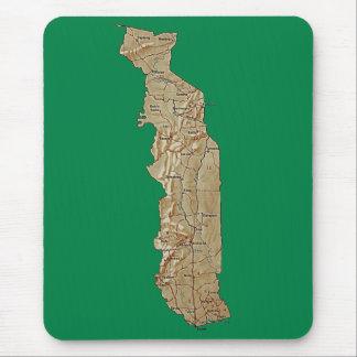 トーゴの地図のマウスパッド マウスパッド