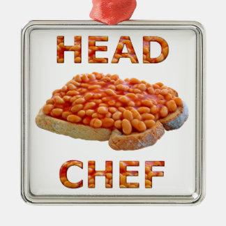 トーストのヘッドシェフの豆 メタルオーナメント