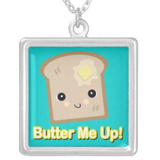 トーストの上の私にバターをつけて下さい シルバープレートネックレス