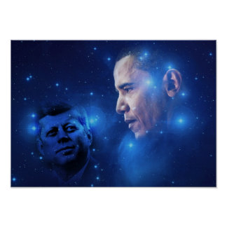 トーチの渡ること、John F Kennedyバラック・オバマ ポスター