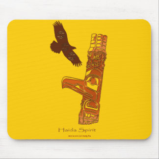 トーテムポールの最初国家のHaidaのワシ及びマウスパッド マウスパッド