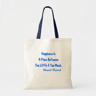 トートのフィンランドの諺の幸福は場所Btwnですも トートバッグ