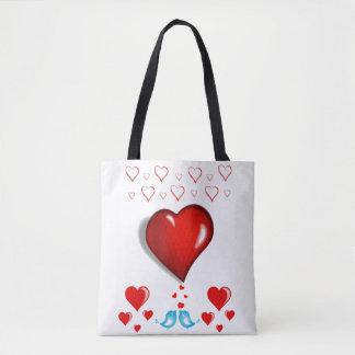 トートバックのバレンタインデー愛ハート トートバッグ