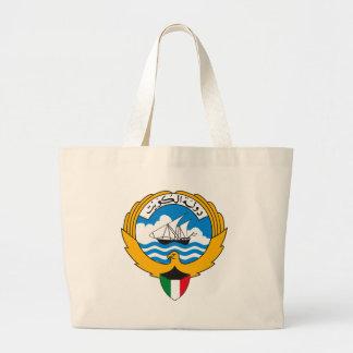 トートバッククウェートの紋章付き外衣 ラージトートバッグ