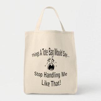 トートバック私を扱うことを止めて下さい トートバッグ