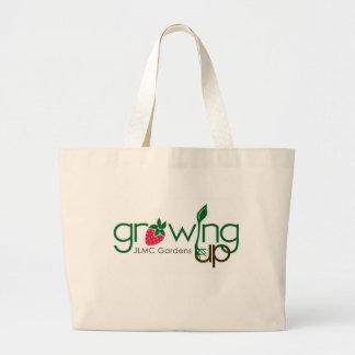 トートバック育つことは庭いじりをします ラージトートバッグ