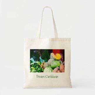 トートバック-キャンバスの芸術-カリブのなフルーツ トートバッグ