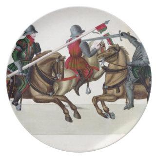 トーナメントの3人の騎士、「Histoからのプレート プレート