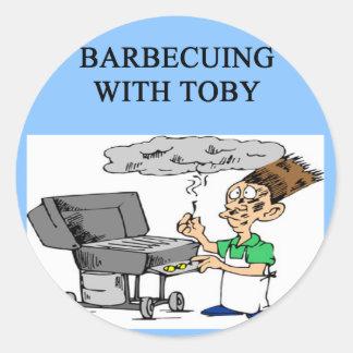トービーとバーベキューで料理すること ラウンドシール