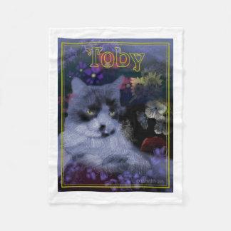 トービー猫 フリースブランケット