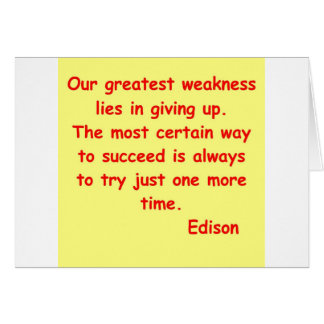 トーマス・エジソンの引用文 カード