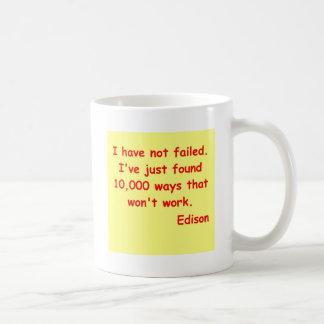 トーマス・エジソンの引用文 コーヒーマグカップ