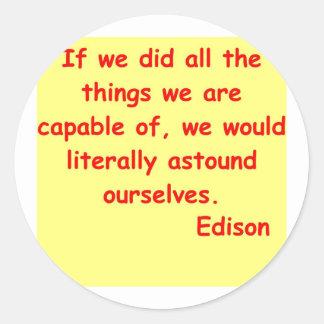トーマス・エジソンの引用文 ラウンドシール