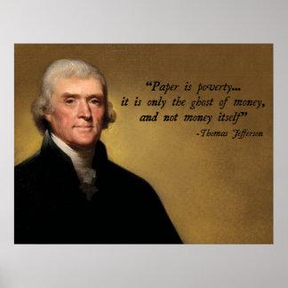 トーマス・ジェファーソンのお金 ポスター