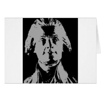 トーマス・ジェファーソンのシルエット カード