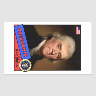 トーマス・ジェファーソンのベースボールカード 長方形シール
