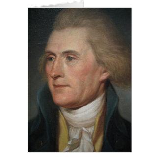 トーマス・ジェファーソンのポートレートの絵画 カード
