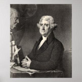 トーマス・ジェファーソンのポートレート ポスター