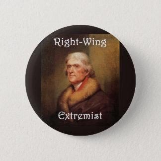 トーマス・ジェファーソンの右翼の右翼の極端家 缶バッジ