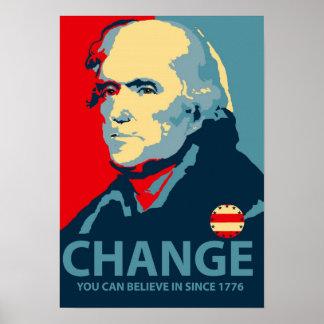 トーマス・ジェファーソンの変更 ポスター