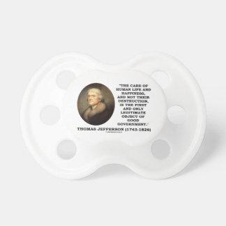 トーマス・ジェファーソンの幸福の目的のよい政府 おしゃぶり