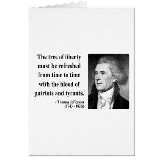 トーマス・ジェファーソンの引用文12b カード