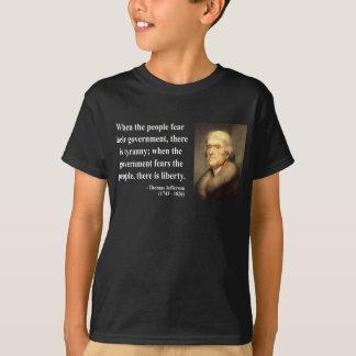 トーマス・ジェファーソンの引用文5c tシャツ