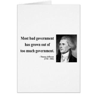 トーマス・ジェファーソンの引用文7b カード