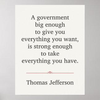 トーマス・ジェファーソンの引用文 ポスター