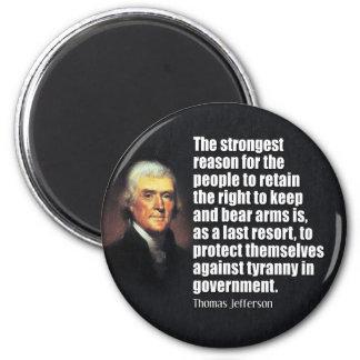 トーマス・ジェファーソンの引用文 マグネット