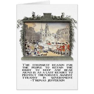 トーマス・ジェファーソンの引用文: 政府の専制政治 カード