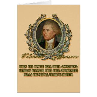 トーマス・ジェファーソンの引用文: 政府及び人々 カード