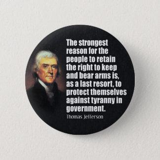 トーマス・ジェファーソンの引用文 缶バッジ