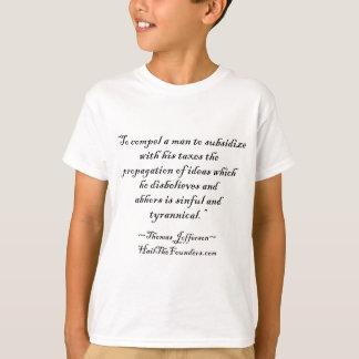 トーマス・ジェファーソンの引用文 Tシャツ