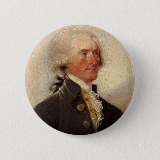 トーマス・ジェファーソンの素朴な絵画 缶バッジ