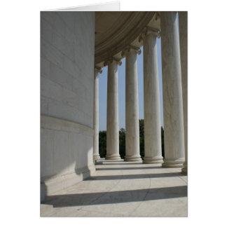 トーマス・ジェファーソンの記念の柱の挨拶状 カード