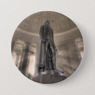 トーマス・ジェファーソンの記念の青銅色の彫像 缶バッジ