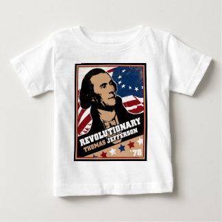 トーマス・ジェファーソンの革命的な幼児Tシャツ ベビーTシャツ
