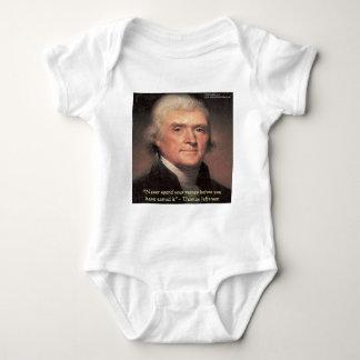 """トーマス・ジェファーソンの""""お金""""の知恵のギフト使います ベビーボディスーツ"""