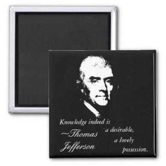 トーマス・ジェファーソンボタン(知識の引用文) マグネット