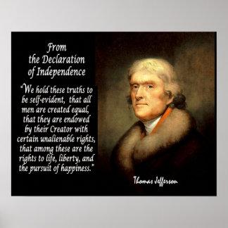 トーマス・ジェファーソン及び独立宣言 ポスター
