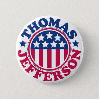 トーマス・ジェファーソン米国の大統領 缶バッジ
